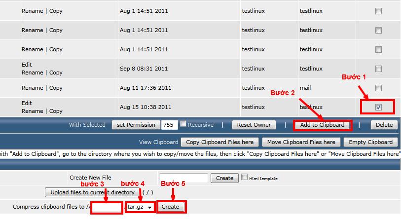Hướng dẫn nén và giải nén file trên DirectAdmin