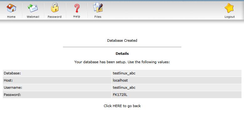 Bạn nên sử dụng chức năng Random để tạo ra những mật khẩu database khó nhớ